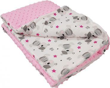 Kuscheldecke Minky CuteTeddy-Rosa