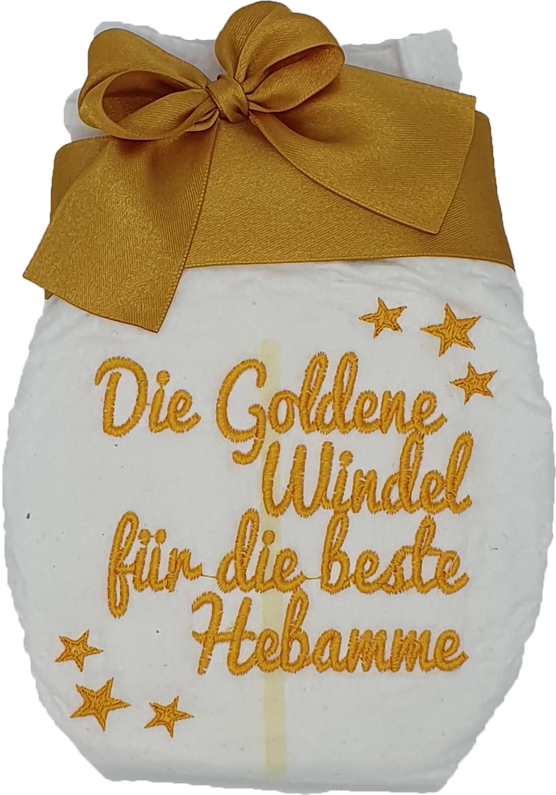 Bestickte Windel Beste Hebamme